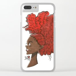 Big Red Hair Clear iPhone Case