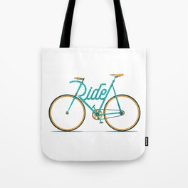 Ride Typo-Bike Tote Bag