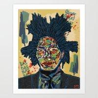basquiat Art Prints featuring BASQUIAT by Blaz Rojs