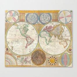 World Map 1794 Canvas Print