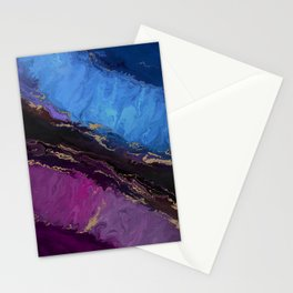 Agate No1 abstract painting Stationery Cards
