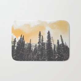 Orange Skys Above the Pines Bath Mat