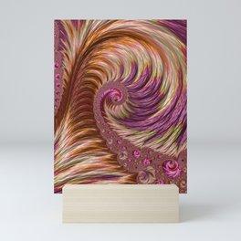 Pink and Gold Spiral Mini Art Print