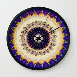 Deepest Indigo Eye of SOul Meditation Print Wall Clock