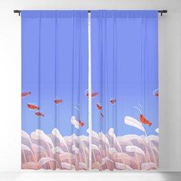 Flying cherry shrimp Blackout Curtain