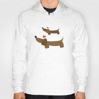 dachshund Hoodies featuring Dachshund by Jackiemtmtz