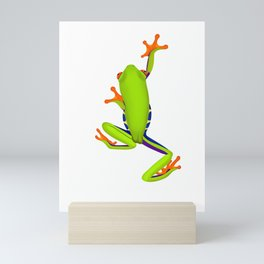 Tree Frog Climbing Mini Art Print