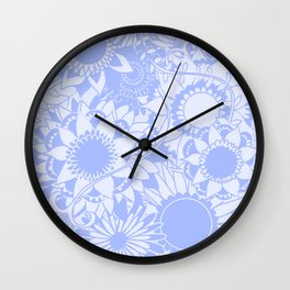 Floral Collage II Wall Clock