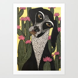 How Did I Get Stuck in This Field of Cactii? Art Print