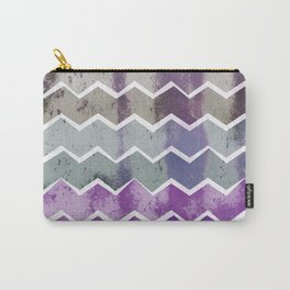 CHEVRON STRIPES - PURPLE Carry-All Pouch
