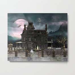 Haunted House 1 Metal Print