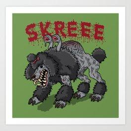 Parasite Poodle Art Print