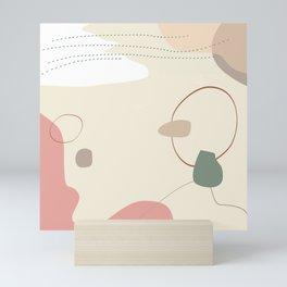 Organic natural seamless pattern #3 Mini Art Print