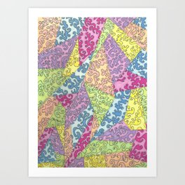 The Geometry of Color Art Print