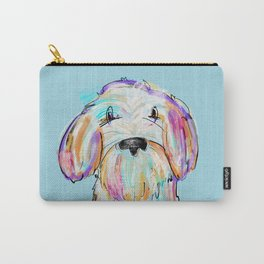 Doodle painted dog colorful artwork  Carry-All Pouch