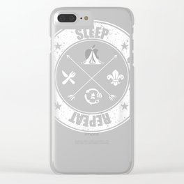 Eat Sleep Scout Repeat Scouting Lover Survival T-Shirt Clear iPhone Case