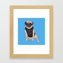 Sun's Out Pugs Out Framed Art Print
