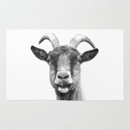 Black and White Goat Rug