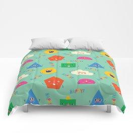 Happy! Pattern Comforters