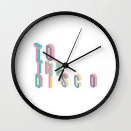 Disco T-Shirt - Vintage Style Disco Shirt Wall Clock