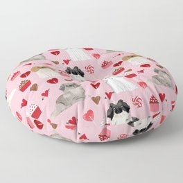Pekingese valentines day dog breed cupcakes love hearts pet pattern gifts Floor Pillow