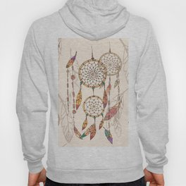 Bohemian dream catcher with beads and feathers Hoody
