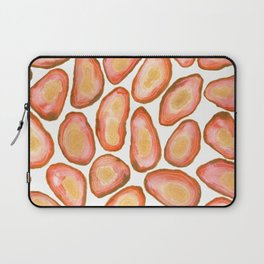 Orange Agate Slices Pattern - Watercolor Geode pattern Laptop Sleeve