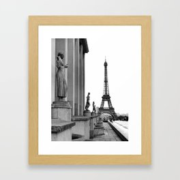 Trocadero Eiffel Tower Paris Framed Art Print