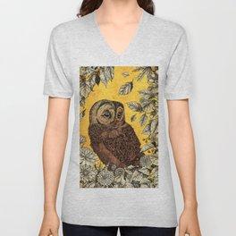 Tawny Owl Yellow Unisex V-Neck