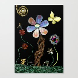 Happy Day in the Garden, Jewelry Scanography Canvas Print