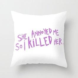 Zelda Spellman Throw Pillow