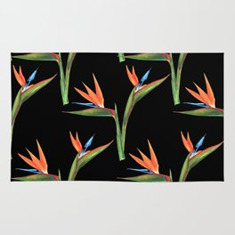 Bird of paradise flowers patten Rug