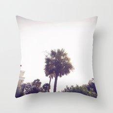 palm::charleston Throw Pillow