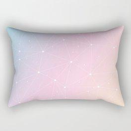 Rainbow Watercolor Astronomy Rectangular Pillow
