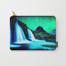 Aurora Borealis Waterfall Vibrant Carry-All Pouch