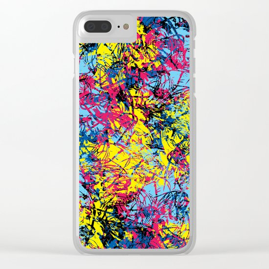 Abstract 6 Clear iPhone Case