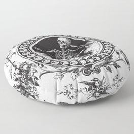 1861 Death Skeleton Black Floor Pillow