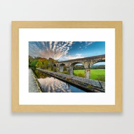 Chirk Aqueduct And Viaduct Framed Art Print
