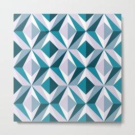 The Blue Diamond (Geometric pattern series) Metal Print