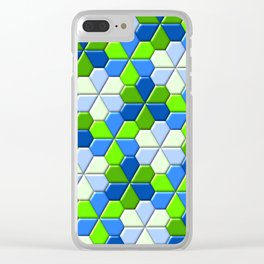 Blues & Greens Clear iPhone Case