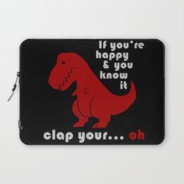 unhappy t-rex Laptop Sleeve