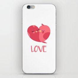 PINK LOVE BIRDS iPhone Skin