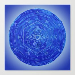 Third Eye Chakra Mandala Canvas Print