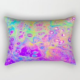 Rainbow Psychedelic Bubbles Rectangular Pillow