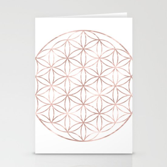 Mandala Rose Gold Flower of Life by naturemagick