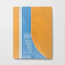Finish Line | Aerial Illustration Metal Print