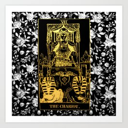 A Floral Tarot Print - The Chariot Art Print