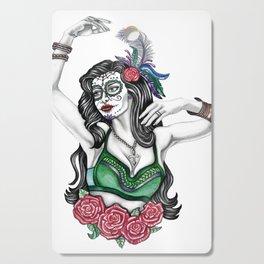 Sugar Skull Gypsy with Roses Cutting Board