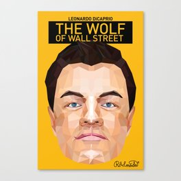 The Wolf of Wall Street Minimalist Poster Canvas Print