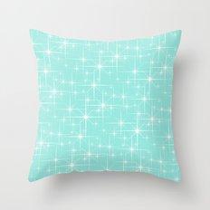 Glitter Tiffany Blue Throw Pillow